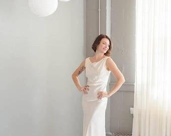 40% OFF SALE - Vintage 1930's Satin Bias Cut Wedding Gown Old Hollywood Jean Harlow