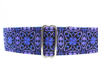 1.5 inch Martingale Collar, Purple Martingale Collar, Purple Dog Collar, Greyhound Collar, Wide Dog Collar, Large Dog Collar, Celtic