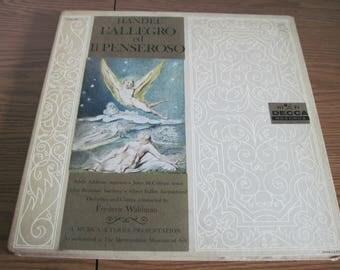 Handel: L'Allegro Ed Il Penseroso 1950s 2 x LP Box Set Classical Baroque - Decca DXA-165  RARE