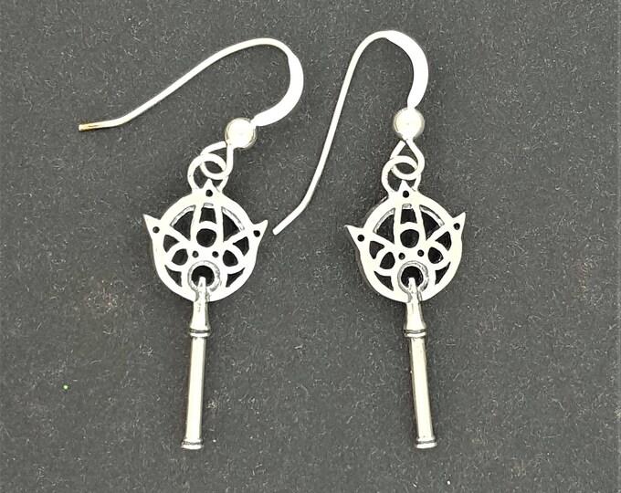 Final Fantasy X Yuna's Wand Earrings in Sterling Silver