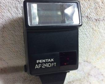 SUMMER SALE Vintage Pentax AF 240 Ft Flash for Cameras Japan Electronics Parts Accessories