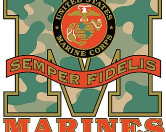 ON SALE Marines Semper Fidelis Quality T Shirt Unisex