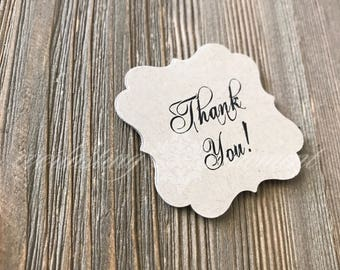 Rustic Thank You Tag, thank you tags, vintage thank you, favor tags, thank you favor tags, fancy tags,