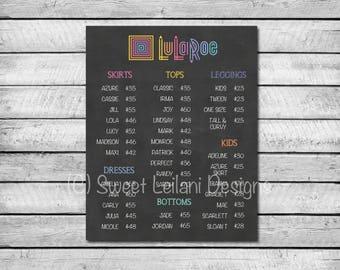 LuLaRoe Price List | Chalkboard Sign LLR | Price List | LuLaRoe Business