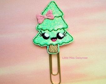 Pine Tree Cutie Glitter Planner Clip Paperclip