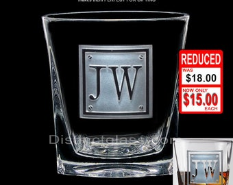 SCOTCH WHISKEY GLASSES, 12 oz Gifts for Usher Best Man Father of Bride Groom Master of Ceremonies