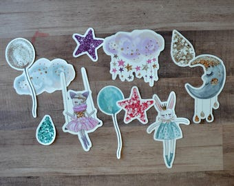 To The Moon and Back Die Cuts - Planner Decoration / Planner Accessories