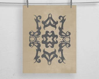 Tribal Zen Moroccan, Boho Wall Art Print 8x10 or 11x14
