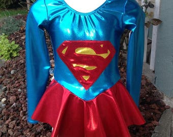 Supergirl figure skating/dance dress