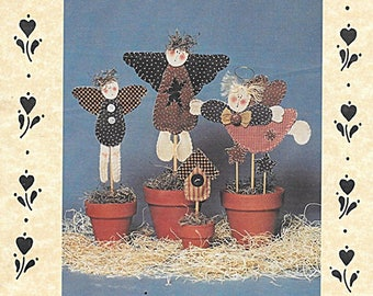 Angel Pots Pattern by The Briar Rose Collection