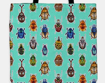 Beetle parade tote bag