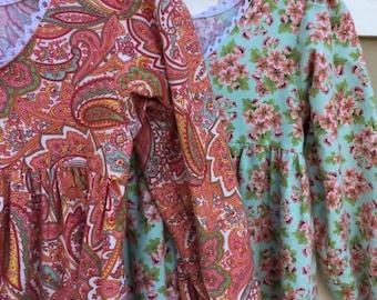Long Sleeve Cotton Flannel Nightie