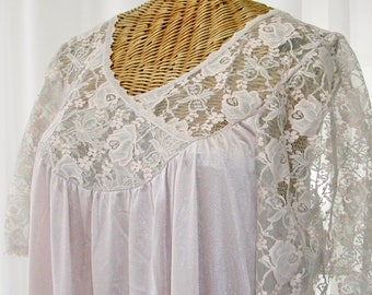 Vintage Alan R Long Nightgown Open Bust Unworn Large