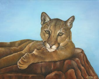 Mountain Lion - Original Oil Painting