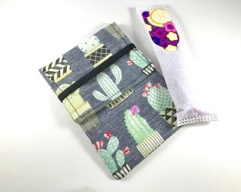 Tampon Case, Tampon Holder, Tampon Wallet - Cactus Succulents