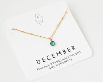 Delicate Birthstone Necklace | Dainty Birthstone  | Birthstone Jewelry | Gift for Mom | October Birthstone | Gift for Her | Simple Necklace