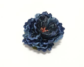 Artificial Blue Purple Peony - 5.5 Inches - Silk Flower, Artificial Flowers, Flower Crown, Wedding Flowers, Hair Accessories, Millinery