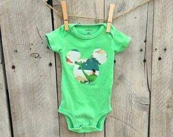 Newborn The Good Dinosaur Inspired Bodysuit