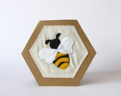 Bumble Bee Card, Just to say, Hello, Thank You, Leaving, Stitched, Bee, Nature, Card, Natural, Special, Gift, Handmade, Free postage to UK