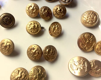 Lot of 26 Military Buttons