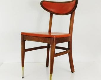 Vintage Mid Century Bianco Dining Chair / MCM Danish Modern wood side chair