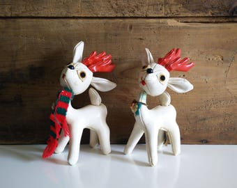 Vintage Sakai & Co Vinyl Reindeer, Japanese sawdust figures, Christmas decor