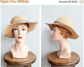 20% Off Sale // 1960s Hat // Montague Summer Hat // vintage 60s straw hat