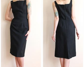 1950s Dress // Joan Miller Sheath Dress // vintage 50s dress