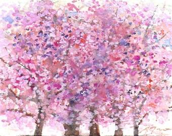 mini painting October 2017 no.14, original watercolor painting by Sumiyo Toribe