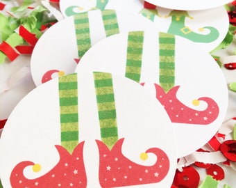 Christmas Elves, Decorations, Elf Feet, Confetti, Elf on the Shelf, Props, Christmas, Elf Legs, Winter Elves, Elf Party Supplies, Red, Green