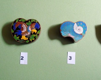 CHINESE CLOISONNE TRINKET boxes