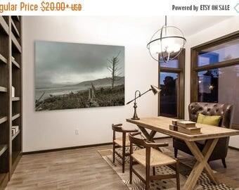 FLASH SALE til MIDNIGHT Stormy Grey Oregon Coast Beach Photo, office decor, wall art, high quality fine art print