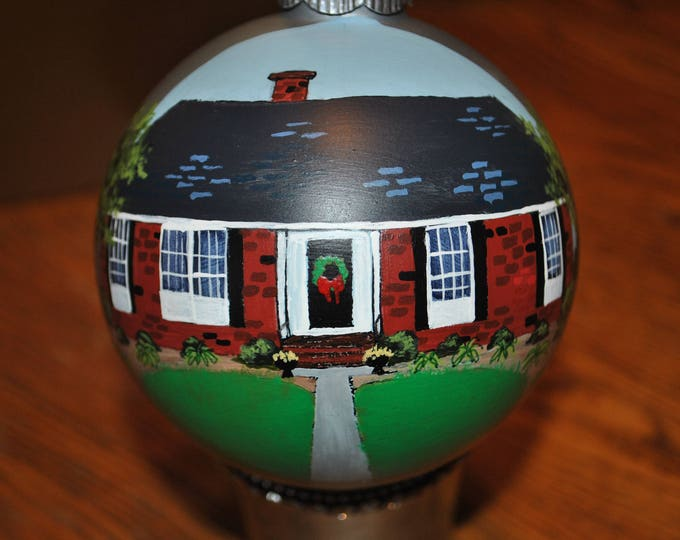 Custom Hand Painted Christmas New Home Ornament  - sold