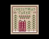 Primitive Christmas Cross Stitch, Primitive Christmas Pattern, Primitive Pattern Cross Stitch, Primitives, Country Cross Stitch