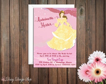 Beauty And The Beast Invitations