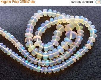 ON SALE 55% Ethiopian Welo Opal, AAA Ethiopian Welo Opal Plain Rondelles, Fire Opal, 4-7mm, 7 Inch Strand, Opal Necklace