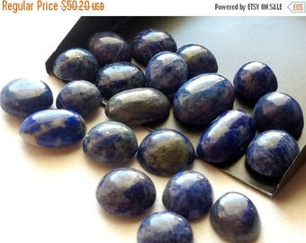 ON SALE 55% Lapis Lazuli - Blue Laps Lazuli Cabochons, Plain Cabochons, Original AAA Lapis Lazuli Gems, Lapis Oval Beads, 8x10mm To 16x