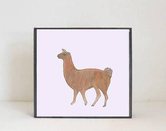 llama southwestern nursery art -peru wall art- animal prints- gender neutral baby- boho southwest children wall decor- nursery-redtilestudio