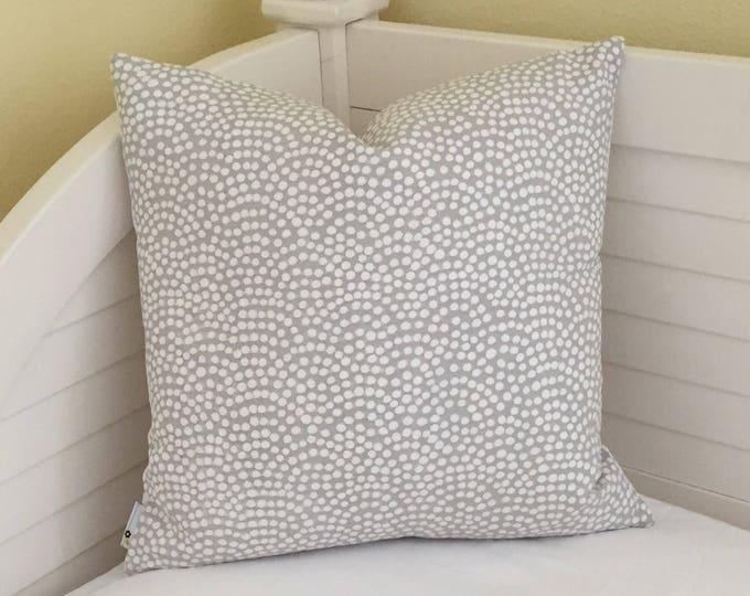 Quadrille China Seas Mojave Gray and White Designer Pillow Cover - Square and Lumbar Pillow Cover Sizes