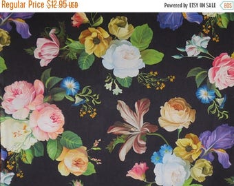 ON SALE Gorgeous Large Floral Sprays Catherine Digital Print Pure Cotton Fabric--By the Yard