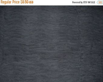 ON SALE 2 REMNANTS--Black Stretch Ruffled Tulle Fabric--2.5 Yards total