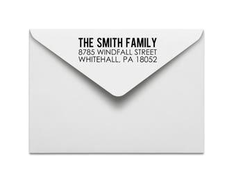 address stamp: custom rubber stamp, return address stamp, wedding address stamp, personal or family address stamp