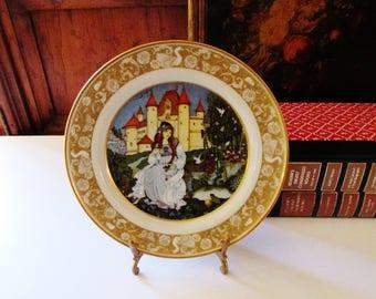 Vintage The Frog Prince Porcelain Plate, The Grimm's Fairy Tales, Bavaria, Franklin Porcelain Collection, 1970's