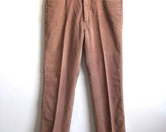 50OFF Event Pierre Cardin Rose-Brown Corduroy Cotton Casual Men's Pants 36 Small
