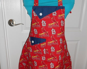 St Louis Cardinals Red Girl's Apron
