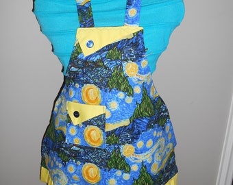 Vincent Van Gogh's Starry Night Girl's Apron