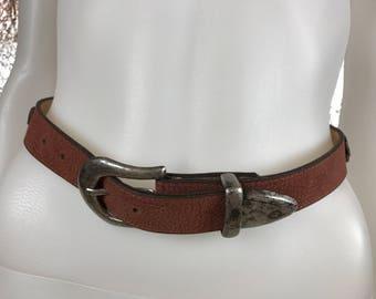 Vintage Brown Southwestern 90's Belt  S