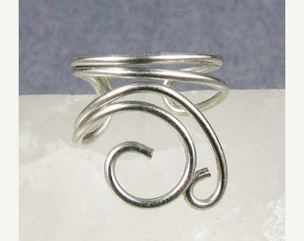 SALE - Silver Mini Swirls Ear Cuff