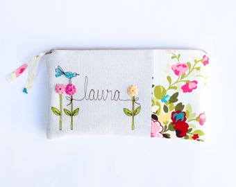 Baby Shower Hostess Gift, Thank You Gift Clutch, Unique Personalized Clutch Purse, Your Color Choice MADE TO ORDER MamaBleuDesigns