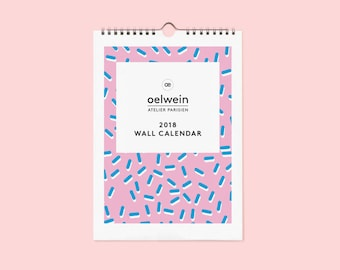 2018 Wall calendar PATTERN - Limited edition